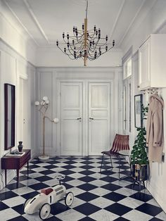 What an entrance! The home of stylist Johanna Lavén.