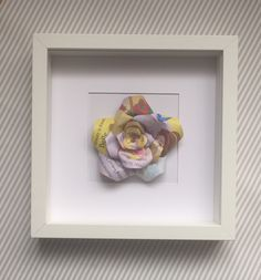 Upcycled handmade Disney Princess Framed Paper Rose by Karolina Rose #DisneyFan #Belle #BeautyAndTheBeast