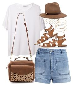 Outfit for summer by ferned on Polyvore featuring polyvore, fashion, style, T By Alexander Wang, H&M, Topshop, Madewell, ASOS and rag & bone