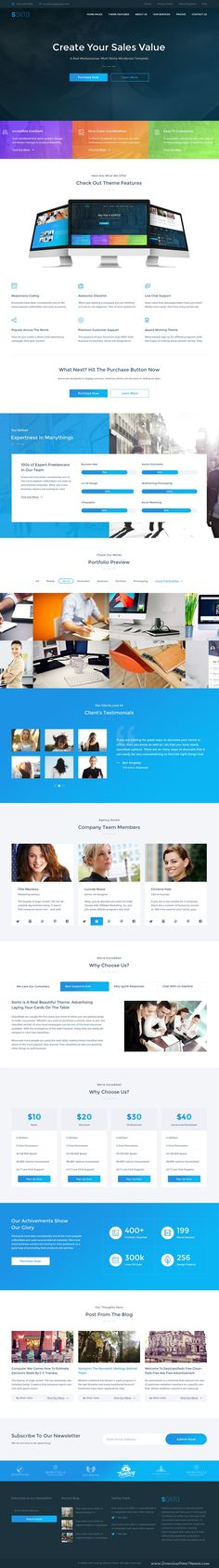 Sorto is a Multipurpose #PSD template for stunning #website. Download Now!