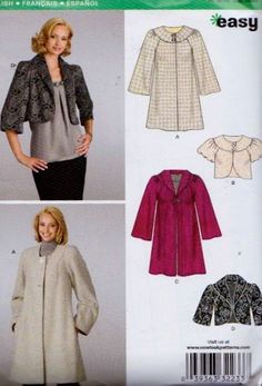 NewLook 6832 Misses Coat Sewing Pattern UNCUT Size by tealducktoo, $4.95