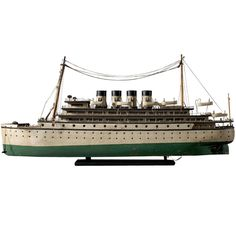 "this is an awesome handmade Ocean Liner done by a Baltimore convict.  24"" 4200."