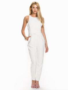 As You Are Twist Jumpsuit - Finders Keepers - White - Jumpsuit - Tøj - Kvinde - Nelly.com