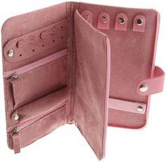 Leather Jewelry Case in Pink by Lewis N. Jewelry Roll, Jewelry Case, Jewelry Holder, Travel Jewelry Organizer, Jewelry Organization, Mochila Tutorial, Diy Sac, Diy Mode, Jewelry Branding