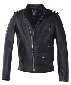 Schott 603USA Cafecto Steerhide Hybrid Cafe Racer Asymmetrical Leather Motorcycle Jacket Coming soon to bootstaronline.com!