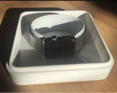 New Apple Watch, Apple Watch 42mm, Black Stainless Steel, Container
