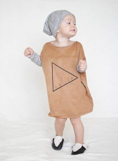 Baby Dress Tunic Dress Modern Clothes Suede Dress by AnchoreDeep