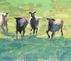 Four Amigos by Bernard Dellario, Gouache, 8 x 10