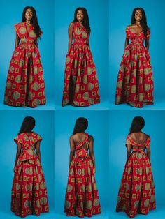 Maxi INFINITY in red by ofuure on Etsy
