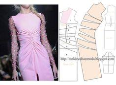 La mode féminine - Modèles Fashion for Measure Dress Sewing Patterns, Sewing Patterns Free, Clothing Patterns, Fashion Sewing, Diy Fashion, Ideias Fashion, Female Fashion, Sewing Clothes, Diy Clothes
