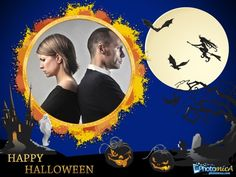 Happy Halloween with e-card! Make it for free for friends only! http://photomica.com/ru/cards/Happy_Halloween_Card_Online.php