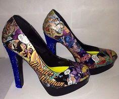 Wonder Woman Comic Book Shoes