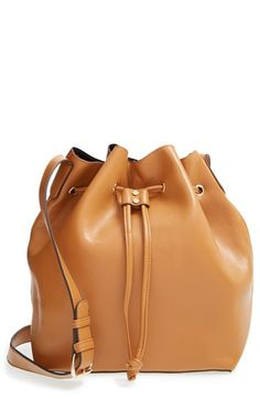 Sole Society 'Nevin' Faux Leather Drawstring Bucket Bag available at #Nordstrom
