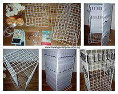 portable display shelves for craft shows Booth Display for Fair – DIY Display Shelf for Necklaces Craft Fair Displays, Craft Booths, Craft Font, Display Shelves, Display Ideas, Store Shelving, Pegboard Display, Wire Shelves, Display Cases
