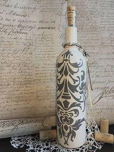 Fľaša s maľovaným vintage ornamentom / Clairet - SAShE. Bottle, Vintage, Home Decor, Decoration Home, Room Decor, Flask, Vintage Comics, Home Interior Design, Jars