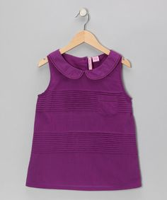 Take a look at this Purple Peter Pan Tunic - Girls by Apollo on #zulily today!