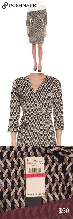 🎉 HOST PICK 🎉 Laundry By Shelli Segal Dress Brand new with tags. Laundry by Shelli Segal Faux Wrap Dress. Size: X-Small. Retails for $138. Offers welcome! 🎉Host pick for 9/28/16 Best in Dresses and Skirts party!🎉 Laundry by Shelli Segal Dresses