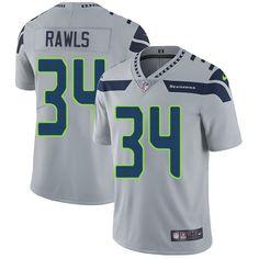 Nike Seahawks #34 Thomas Rawls Grey Alternate Men's Stitched NFL Vapor Untouchable Limited Jersey