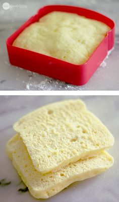 Gluten Free Bread-For-One In Less Than 90 Seconds! - I love this idea of cooking in the sandwich container! #glutenfree #recipes #healthy #gluten #recipe