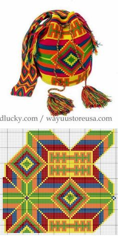 Tapestry Crochet Patterns, Weaving Patterns, Knitting Patterns, Cross Stitch Embroidery, Cross Stitch Patterns, Crochet Blanket Tutorial, Tapestry Bag, Crochet Purses, Crochet Accessories