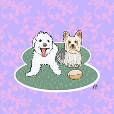 Ilustración perro Yorkshire y Poodle #dog #perro #art #ilustration Poodle, Kids Rugs, Home Decor, Pets, Animales, Illustrations, Decoration Home, Kid Friendly Rugs, Room Decor