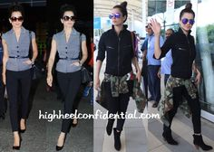 love her from top to bottom.. Kangana Ranaut Photographed At The Airport In Vero Moda, Dior And Stella McCartney-1