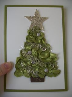 Stampin' Up!  Tasteful Trim die  Cathy Roy  Melted Satin Ribbon  (sorry! no blog to link to!)