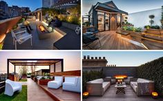 Modern house roof deck these rooftop decks are always ready for outdoor entertaining 2 storey house Built In Couch, 2 Storey House Design, Deck Furniture, Furniture Removal, Cheap Furniture, Discount Furniture, Furniture Decor, Rooftop Terrace, Building A Deck