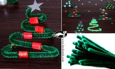 Christmas Party Ideas For Preschool | For the Christmas trees all you need is some green pipe-cleaners and a ...