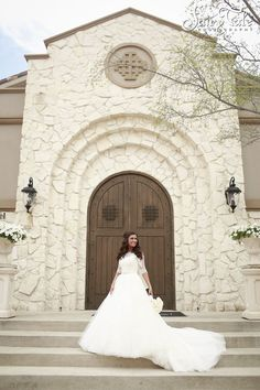Dallas Wedding Photographer Bridal Portrait In Front Of Piazza The Village DFW Venue