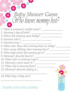 Baby Shower Game Printable Instant Download Who By SassyAndJassy