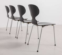 """Set of Four """"Ant"""" Dining Chairs Designed by Arne Jacobsen for Fritz Hansen 