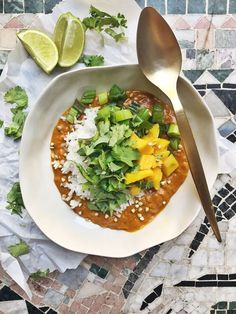 Linsgryta med ris och mango // Red lentil stew with rice and mango