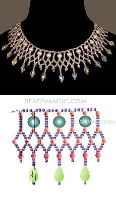 Here is something tasty for you: - - Empty request. Here is something tasty for you: – Empty request. Star Jewelry, Bead Jewellery, Seed Bead Jewelry, Jewelry Crafts, Beaded Necklace Patterns, Beading Patterns, Beaded Bracelets, Handmade Beads, Handmade Jewelry