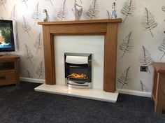 """Perfect  """"No bull turned up got just what we wanted love it thank you very much"""" - Mr Thompson Oak Fire Surround, Steps Design, Fireplace Surrounds, Tree Branches, Solid Oak, Art Pieces, Living Room, Modern, Photos"""