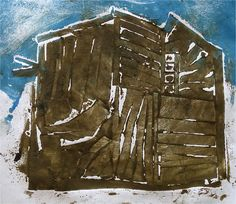 Collagraphs Inspired by Architecture by Paula Briggs