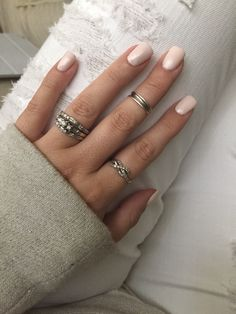 CND Naked Naivete Vinylux Midi rings, white distressed jeans