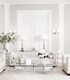 neutral and glamorous living room