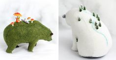These Felted Bears Carry Tiny Worlds On Their Shoulders | Bored Panda