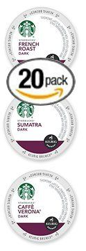 20-count K-cup for Keurig Brewers Bold and Dark Coffee Variety Pack Featuring Starbucks French Roast, Cafe Verona, and Sumatra Cups - http://thecoffeepod.biz/20-count-k-cup-for-keurig-brewers-bold-and-dark-coffee-variety-pack-featuring-starbucks-french-roast-cafe-verona-and-sumatra-cups/