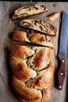 Cinnamon Walnut Stuffed Challah Bread Recipe on completelydelicious.com