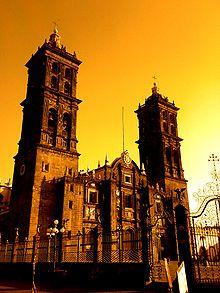 Puebla Cathedral is a Roman Catholic cathedral in the city of Puebla, in Puebla, Mexico.