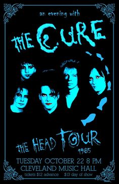 The Cure 1985 Concert Poster The Cure Concert, Rock Concert, Tour Posters, Band Posters, Music Covers, Album Covers, Music Flyer, Pop Rock, Robert Smith The Cure