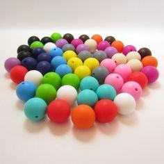 Nova! Diy 15 MM 100 pçs/lote Silicone dentição contas de colar completa cores contas Silicone de grau alimentar jóias frete grátis em Colares com pingente de Jóias e acessórios no AliExpress.com | Alibaba Group