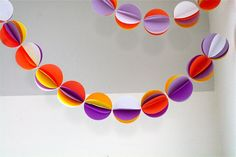 MADE - paper ball garland
