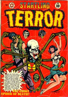 Startling Terror Tales #11 - A Classic L.B. Cole Skull and Spider comic book cover