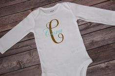 Name and Initial OnesieName onesieInitial by shoretopleasedesigns