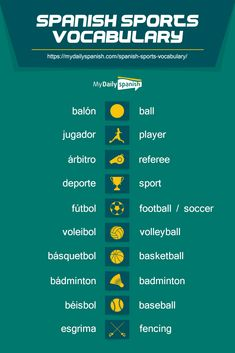 98 Spanish Words About Sports - My Daily Spanish
