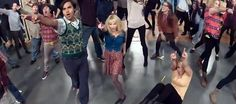 Atores e produção de The Big Bang Theory surpreendem espectadores com Flash Mob de Call Me Maybe.        Veja o #flashmob aqui