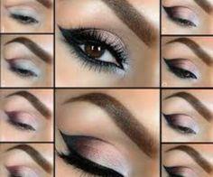stunning eye makeup Beautiful Eye Makeup, Cute Makeup, Pretty Makeup, Perfect Makeup, Awesome Makeup, Beautiful Eyes, Casual Makeup, Perfect Eyeliner, Makeup Style